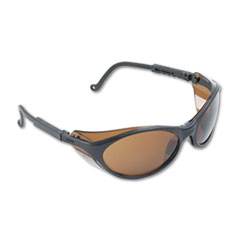 Bandit Wraparound Safety Glasses, Black Nylon Frame,