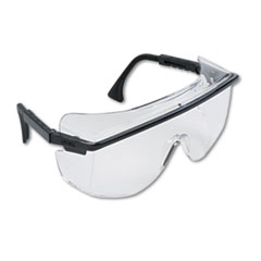 Astro Otg 3001 Wraparound Safety Glasses, Black Plastic