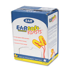 E A Rsoft Blasts Earplugs, Corded, Foam, Yellow Neon,