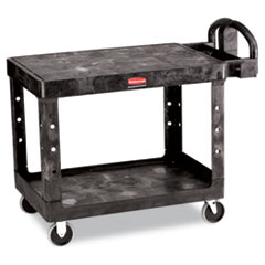 Flat Shelf Utility Cart, Two-Shelf, 25-1/4w X 44d X