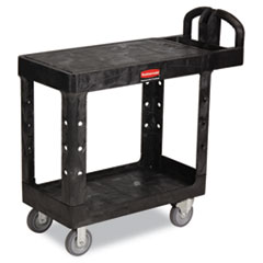 Flat Shelf Utility Cart, Two-Shelf, 19-3/16w X 37-7/8d