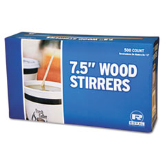 "Wood Coffee Stirrers, 7 1/2"" Long, Woodgrain, 500"