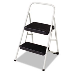2-Step Folding Steel Step Stool, 200lbs, 17 3/8w X 18d