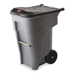 Brute Rollout Heavy-Duty Waste Container, Square,