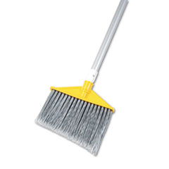"Angled Large Brooms, Poly Bristles, 48 7/8"" Aluminum"