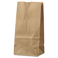 #2 Paper Grocery Bag, 30lb Kraft, Standard 4 5/16 X 2