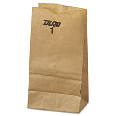 #1 Paper Grocery Bag, 30lb Kraft, Standard 3 1/2 X 7 3/8