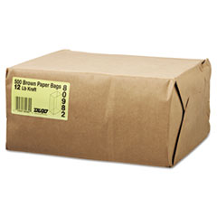 #12 Paper Grocery Bag, 40lb Kraft, Standard 7 1/16 X 4