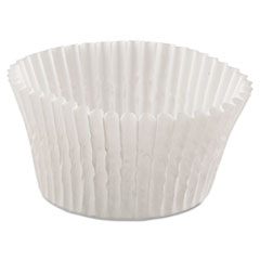 Fluted Bake Cups, 4 1/2 Dia X 1 1/4h, White, 500/pack, 20