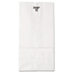 #12 Paper Grocery Bag, 40lb White, Standard 7 1/16 X 4