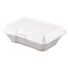 Carryout Food Container, Foam, 1-Comp, 9 3/10 X 6 2/5