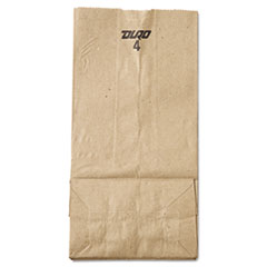#4 Paper Grocery Bag, 30lb Kraft, Standard 5 X 3 1/3 X 9