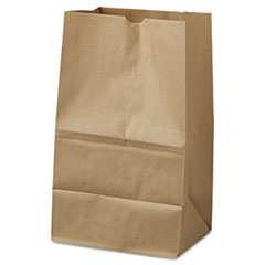 #20 Squat Paper Grocery Bag, 40lb Kraft, Std 8 1/4 X 5