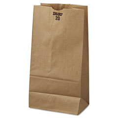#20 Paper Grocery Bag, 40lb Kraft, Standard 8 1/4 X 5