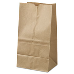 #25 Squat Paper Grocery Bag, 40lb Kraft, Standard 8 1/4 X6