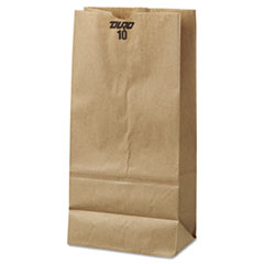 #10 Paper Grocery Bag, 35lb Kraft, Standard 6 5/16 X 4
