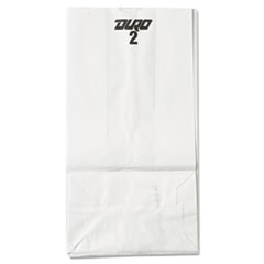 #2 Paper Grocery Bag, 30lb White, Standard 4 5/16 X 2