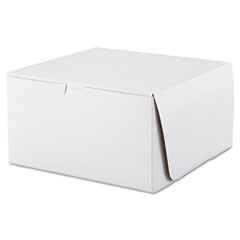 Tuck-Top Bakery Boxes, 10w X 10d X 5 1/2h, White,