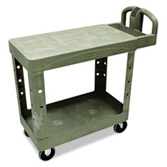 Flat Shelf Utility Cart, Two-Shelf, 19-1/5w X 37-7/8d