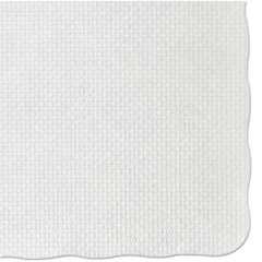 Knurl Embossed Scalloped Edge Placemats, 9 1/2 X 13 1/2,