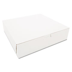Tuck-Top Bakery Boxes, 10w X 10d X 2 1/2h, White,