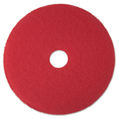 "Low-Speed Buffer Floor Pads 5100, 17"" Diameter, Red,"