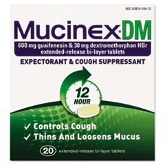 Dm Expectorant And Cough Suppressant, 20 Tablets/box