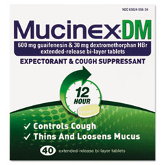 Dm Expectorant And Cough Suppressant, 40 Tablets/box