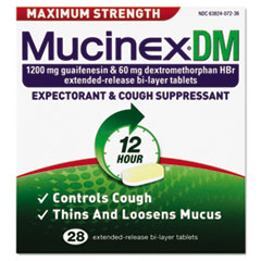 Dm Max Strength Expectorant And Cough Suppressant, 28
