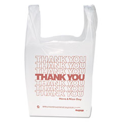 """Thank You"" Handled T-Shirt Bags, 11 1/2 X 21,"
