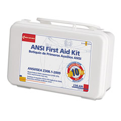 Ansi-Compliant First Aid Kit, 64 Pieces, Plastic Case