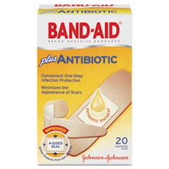 Antibiotic Adhesive Bandages, Assorted Sizes, 20/box