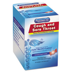 Cough And Sore Throat, Cherry Menthol Lozenges, 50