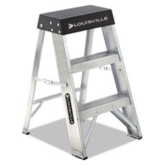 Aluminum Step Stool, 17w X 18 1/4 Spread X 26h,