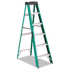 #592 Folding Fiberglass Step Ladder, 6 Ft, 5-Step,