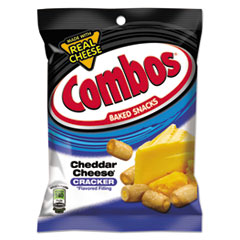 Combos Baked Snacks, 6.3 Oz Bag, Cheddar Cheese Cracker,
