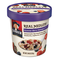 Real Medleys Oatmeal, Summer Berry Oatmeal+, 2.46oz Cup,