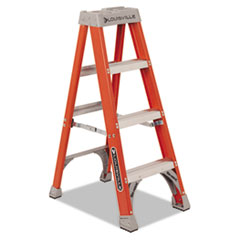 "Fiberglass Heavy Duty Step Ladder, 50"", 3-Step, Orange"