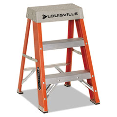"Fiberglass Heavy Duty Step Ladder, 28 3/8"", 2-Step,"