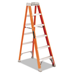 "Fiberglass Heavy Duty Step Ladder, 73 3/5"", 5-Step,"