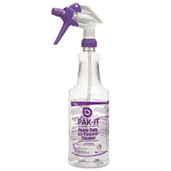 Color-Coded Trigger-Spray Bottle, 32 Oz, Purple: