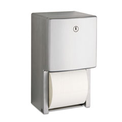 "Conturaseries Two-Roll Tissue Dispenser, 6 1/16"" X 5 15/16"""
