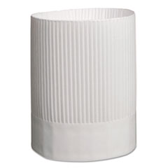 Stirling Fluted Chef's Hats, Paper, White, Adjustable, 9