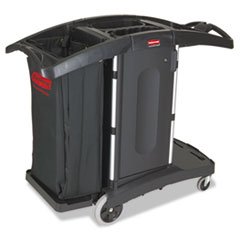 Compact Folding Housekeeping Cart, 22w X 51 3/4d X 44h,