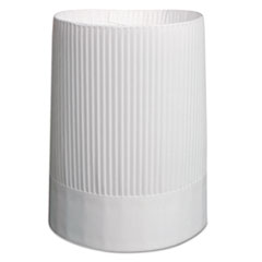 Stirling Fluted Chef's Hats, Paper, White, Adjustable, 10