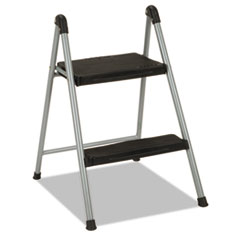 "Folding Step Stool, 2-Step, 200lb, 16 9/10"" Working"