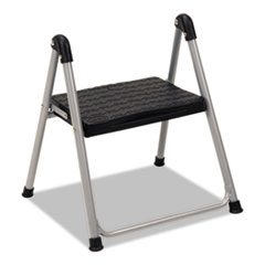"Folding Step Stool, 1-Step, 200lb, 9 9/10"" Working"
