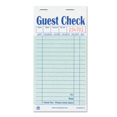 Guest Check Book, Carbon Duplicate, 3 1/2 X 6 7/10,