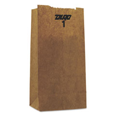 #1 Paper Grocery Bag, 30lb Kraft, Standard 3 1/2 X 2 3/8