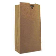 #12 Paper Grocery Bag, 50lb Kraft, Heavy-Duty 7 1/16 X 4